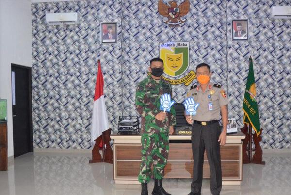 Kunjungan Kerja Kepala BNN Provinsi Lampung di DENPOM II/3 Sriwijaya Lampung Dalam Rangka Sinergitas Program P4GN Pra HANI Tahun 2020