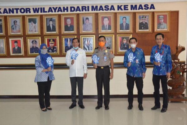 Kunjungan Kerja Kepala BNN Provinsi Lampung di Kanwil Kemenkumham Lampung Dalam Rangka Sinergitas Program P4GN