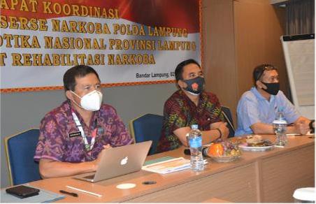Sosialisasi Program Rehabilitasi Bagi Para Kasat Narkoba Se-Provinsi Lampung Oleh Kepala BNN Provinsi Lampung