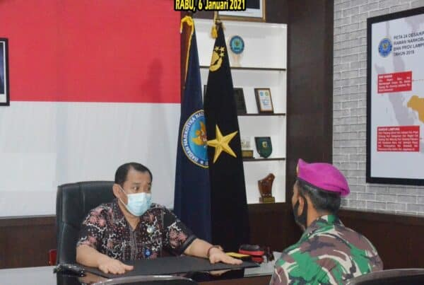 Koordinasi Yon 9 Brigif 4 Marinir /BS di BNN Provinsi Lampung
